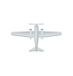 flat icon of airplane with propeller on vector image