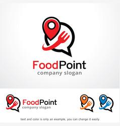 Food point logo template design vector