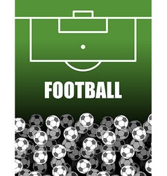 Football field and Ball Lot of balls Soccer vector