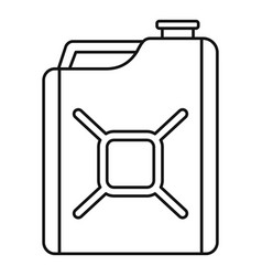 gas canister icon outline style vector image