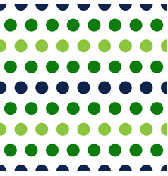 green and blue polka dots seamless pattern vector image