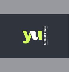 green letter yu y u combination logo icon company vector image