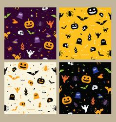 halloween pattern seamless background vector image