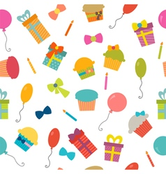 Happy Birthday seamless pattern background for vector