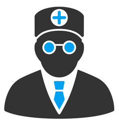 Head physician flat icon vector