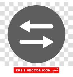 Horizontal Exchange Arrows Round Eps Icon vector