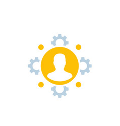 Hr human resources staff management icon vector