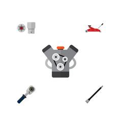icon flat workshop set of jack spherical joint vector image