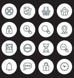Icons set collection increase loup safeguard vector
