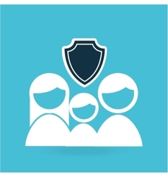 insurance concept family design graphic vector image