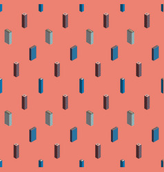 isometric buildings seamless pattern vector image