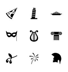 italian icon set vector image