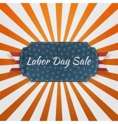 Labor Day Sale festive paper Badge vector image