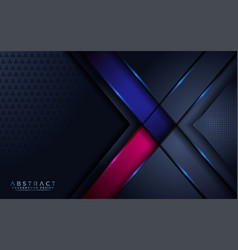Luxurious dark navy background with blue and pink vector