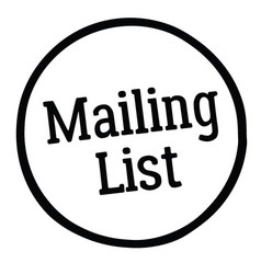 mailing list stamp vector image