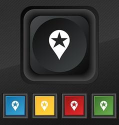 Map pointer award GPS location icon symbol Set of vector