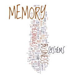 memory techniques success and money text vector image