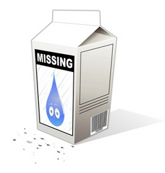 missing person carton vector image