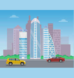 modern city landscape color vector image