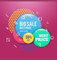 Modern sale badge and special offer template for vector