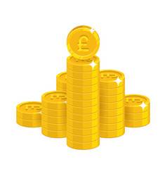Mountain gold pounds isolated cartoon icon vector