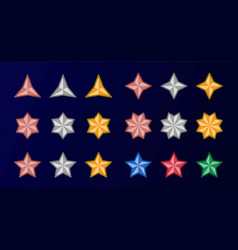 multipoint star icon set vector image