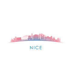nice skyline silhouette design colorful vector image