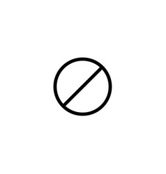 No enter sign line black icon vector