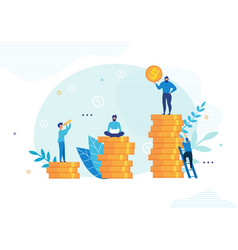 People communicate and work on financial issues vector