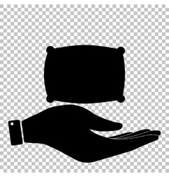 Pillow sign Flat style icon vector