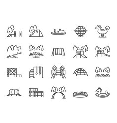 Playground icon set vector