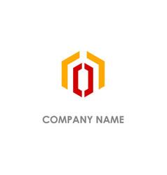 polygon line geometry company logo vector image