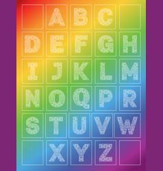 Rainbow alphabet vector