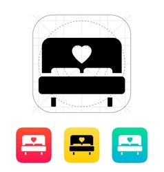 Romantic bed icon vector image