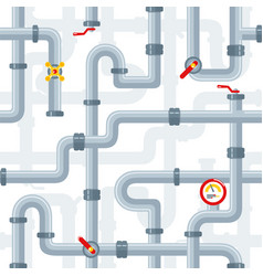 seamless pattern details ware pipes system vector image