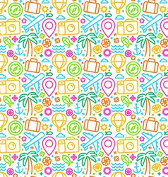 seamless pattern with linear icons vector image
