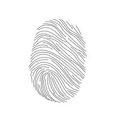 set fingerprints icons id security identity vector image
