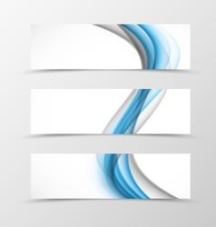 Set of header banner wave design vector image