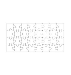 set of puzzle pieces vector image