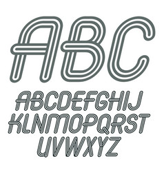 set of trendy capital alphabet letters abc vector image