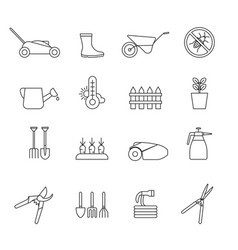 Set simple farm and gardening icon in trendy vector
