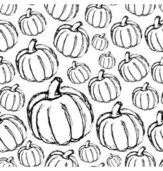 Simple hand drawn doodle pumpkin seamless pattern vector