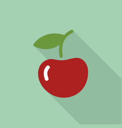 single cherry with a leaf isolated vector image