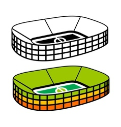 Soccer Stadium sign vector
