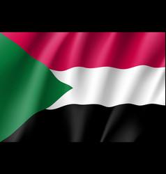 Sudan realistic flag vector