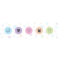 Tee icons vector