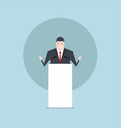the businessman talking on podium vector image