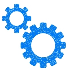 Transmission gears grainy texture icon vector