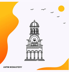 travel antim monastery poster template vector image