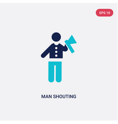 two color man shouting icon from behavior concept vector image